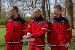 Ratownicy z Autrimpusa- od lewej Dawid Michalak, Marcin Bałazy i Bartosz Krawczyk